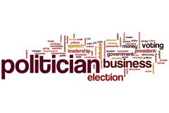 politician word cloud - stock illustration