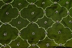 Green satin textile Stock Photos