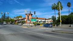 Fair Oaks Boulevard in Pasadena, California Stock Footage