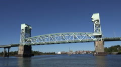 Cape fear bridge and river, wilmington, nc, usa Stock Footage