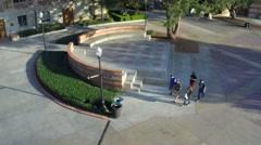 UCLA campus quad (1 of 6) Stock Footage