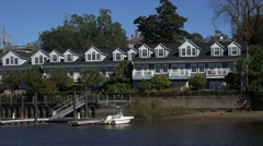 Waterfront condos, cape fear river, wilmington, nc, usa Stock Footage