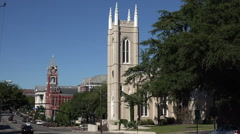 St james church and courthouse building, wilmington, nc, usa Stock Footage