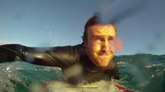 Surfing pov. Slow Motion Stock Footage