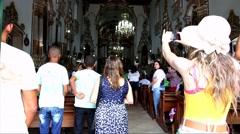 The famous Igreja Nosso Senhor do Bonfim da Bahia church in Salvador Bahia Stock Footage