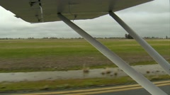 Plane Taxiing out to runway. HD Light Aircraft Civillian Stock Footage