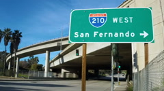 San Fernando Valley Sign Stock Footage