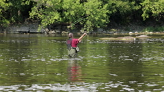 Fishing day out Stock Footage