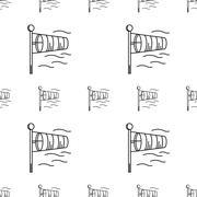Vector background for windsock - stock illustration