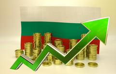 currency appreciation - Bulgarian lev - stock illustration