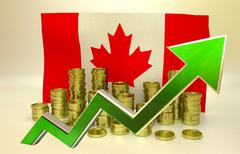 Currency appreciation - Canadian Dollar Stock Illustration