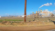 Stock Video Footage of Driving By Geo Thermal Electric Power Plant- Niland, CA