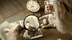 Tintype,   genealogy study cameo Stock Footage