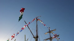 Tall Ship CUAUHTEMOC Stock Footage