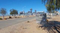 Gas Turbine Electric Power Plant- Niland California - stock footage