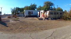Low Income Trailer Park Mobile Homes- Bombay Beach California - stock footage