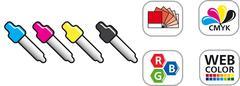 Stock Illustration of Color CMYK Icon Set