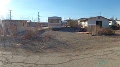 Rural Poverty In America- Bombay Beach California Trailer Park Stock Footage