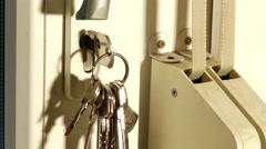 Closing Opening Door Close Up 1 Stock Footage