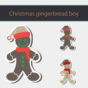 Stock Illustration of Gingerbread Man Cookie.