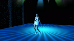 Sexy Dancer on Lighted Stage:  Looping Stock Footage