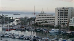 Cityscape of Eilat at the early morning Stock Footage