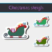 Christmas sleigh of santa claus. - stock illustration