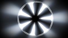 3D fan rotating in light - stock footage