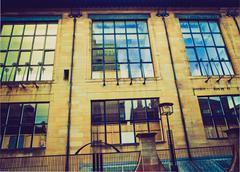 Retro looking Glasgow School of Art - stock photo