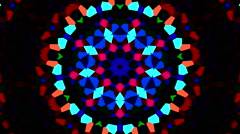 Color visuals xtc Kaleidoscope Stock Footage