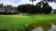 Golf Club - empty and quiet Stock Footage