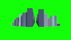 Cityscape on green background Stock Footage
