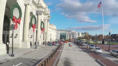 4K Zoom out of busy Union Station in Washington DC Stock Footage