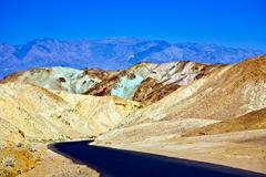 Artists drive road, death valley national park Stock Photos