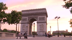 Paris, Arch of Triumph - stock footage