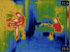 Body heat Stock Photos