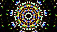 Color visuals xtc Kaleidoscope - stock footage
