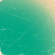 Old scratched card with halftone gradient - stock illustration