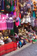 Souvenir and handicraft shop in copacabana, bolivia Stock Photos