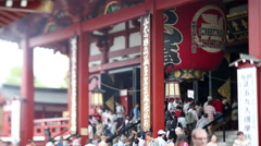4k senso ji japan temple tokyo shrine religious Stock Footage