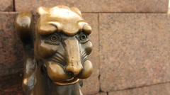Close-up of antique bronze figure, St. Petersburg, Russia Stock Footage