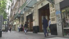 Stock Video Footage of Door Café Tortoni TimeLapse
