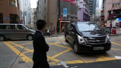 Soho Street view around Central Mid Levels escalator in Hong Kong Stock Footage