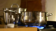 Cooking food in pot. Stock Footage