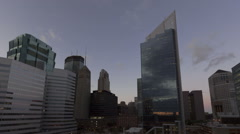 Time lapse Minneapolis Skyline twilight Stock Footage