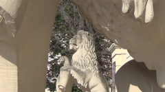 Lviv, lion sculpture Stock Footage