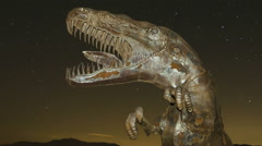 Time lapse extreme close up of dinosaur with stars Stock Footage