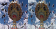 Stock Video Footage of 3d carnival swing ride