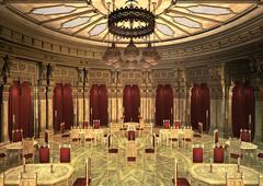 3d illustration oriental palace Stock Illustration