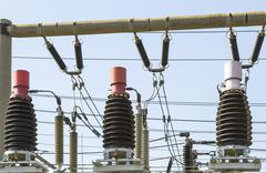 Big electric coils Stock Photos
